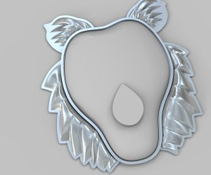 Rhino rendering of mane