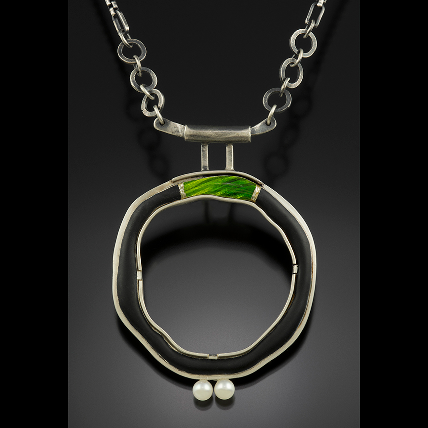 Green Bridge Circle Necklace